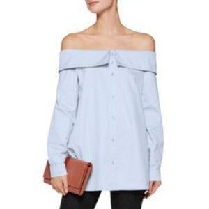 TIBI Blue Long Sleeves off shoulder shirt